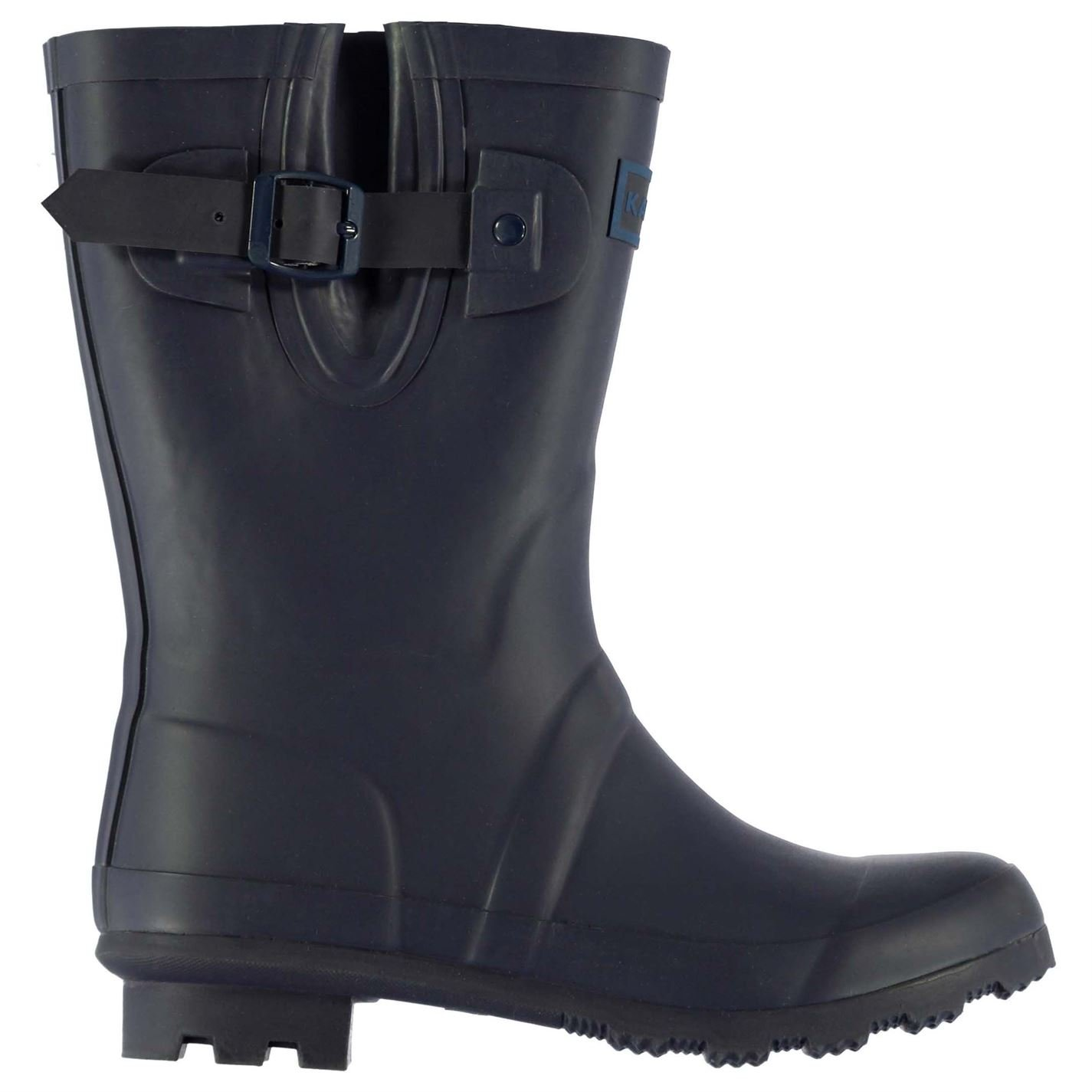 Kangol Kids Tall Wellies Childs Wellingtons Buckle Pattern Boots Shoes Navy/Blue UK C11 (29)