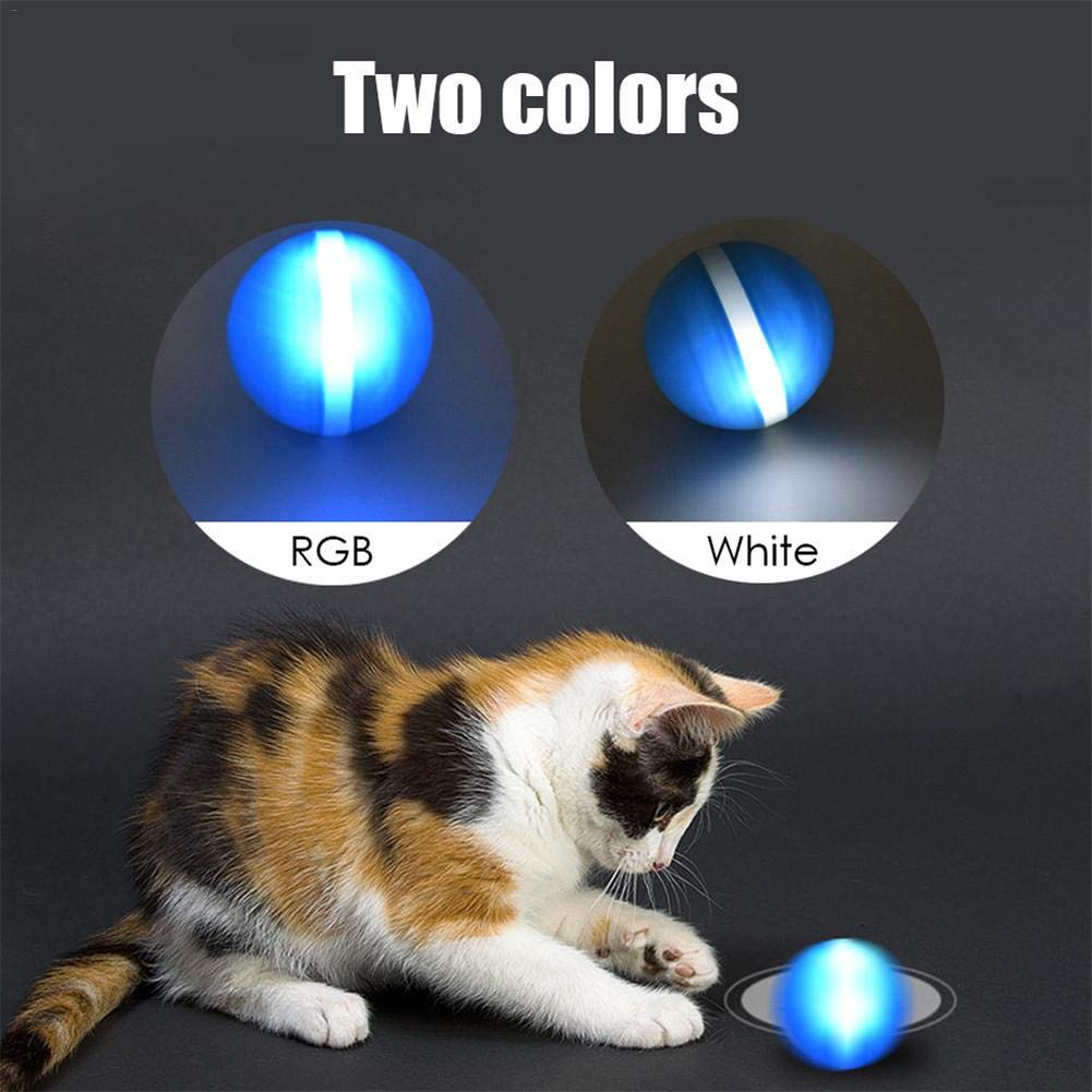 LED Rolling Flash Ball Fun Toy,Glow in The Dark Interactive Pet Toys Dog Balls,Wicked Ball,Glitter on Dog Balls,Pet Toy Jumping Ball,USB Electric Pet Toy Jumping Ball
