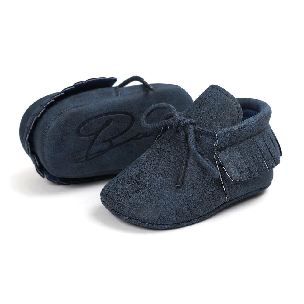Unisex Baby Boys Girls Soft Sole Tassels Toddler First Walker Shoes Antheron Infant Moccasins