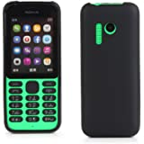 Kit Me Out UK® Nokia 215 [Shock Absorbing] [Thin Fit] Premium Matte Finish TPU Gel Case Cover Skin Pouch - Black