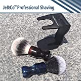 Je&Co Luxury Synthetic Shaving Brush With Aesthetic Resin Handle, 24mm Extra Dense Knot