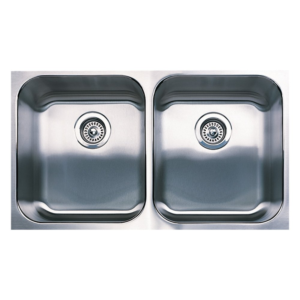 Blanco 440258 Spex Plus Equal Double Undermount Kitchen Sink, Stainless  Steel     Amazon.com