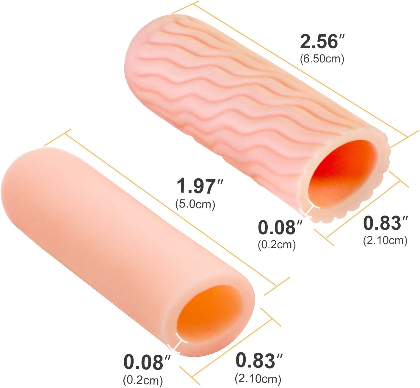 Sumifun Gel Finger Protector Cracked Finger Finger Cot for Protecting Fingers from Burns and cuts Finger Arthritis etc 5 Pairs Pain Relief from Trigger Finger Finger Sleeves with Wavy Outer