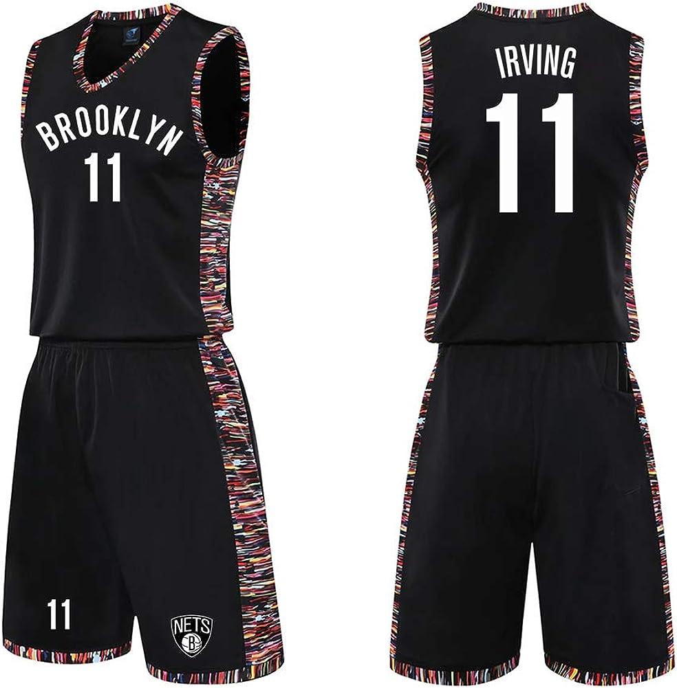 Maglia da Allenamento per Allenamento Kyrie Irving n Completo da Basket per Uomo Completo da Basket per Uomo 11 Maglia per Tifosi di Brooklyn Nets