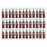Now Designs Coca-Cola Bottle Rocket Cork-Backed Placemats, Set of 4