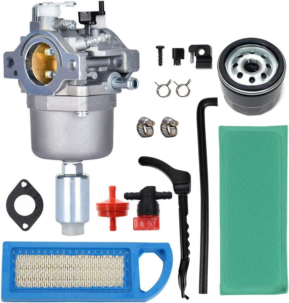 791858 Carburetor Air Filter Fuel Line Filter Kit Replacement for Briggs & Stratton 591731 593433 594593 653202 698620 697190 699109 791858 792768 794572 796109 14-18hp Craftsman Lawn Tractor Mower