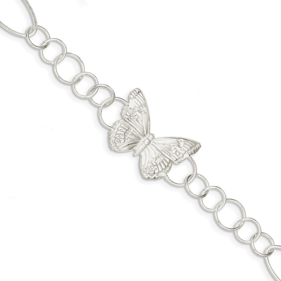 ICE CARATS 925 Sterling Silver Butterfly Bracelet 7.50 Inch Animal Fancy Fine Jewelry Ideal Gifts For Women Gift Set From Heart