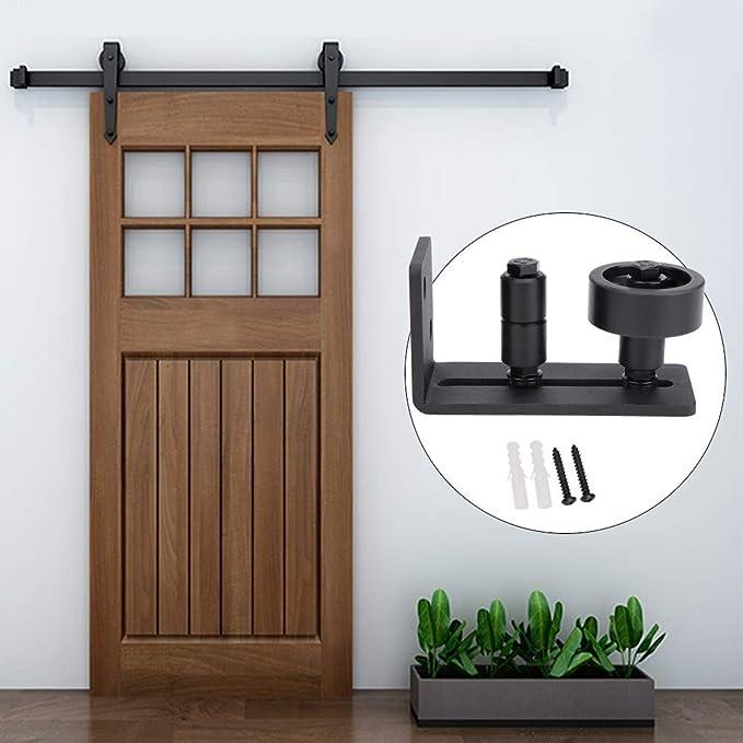 KSTE Guía ajustable de acero al carbono de suelo for correderas puerta de granero (doble rodillo con un rodillo pequeño): Amazon.es: Bricolaje y herramientas