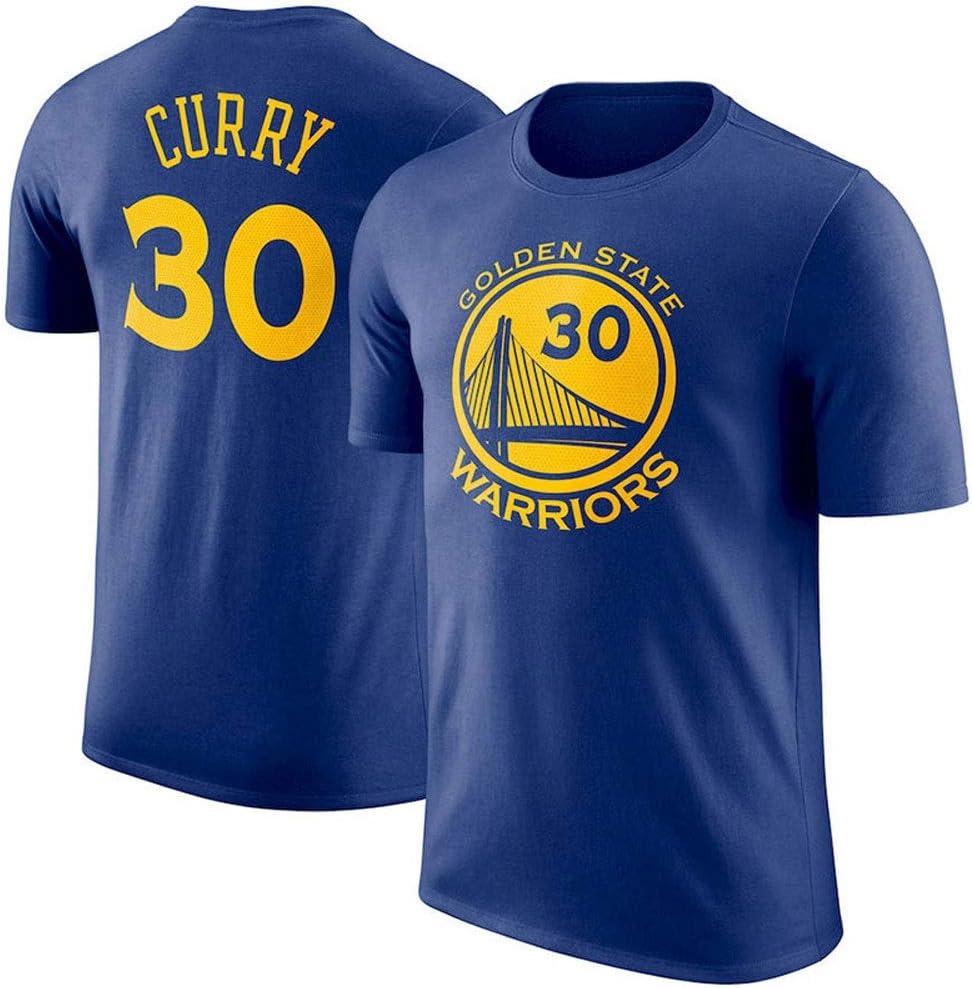 QARYYQ Camiseta de Manga Corta Warrior Curry con Cuello Redondo Ropa Deportiva Camiseta Color : White, Size : S