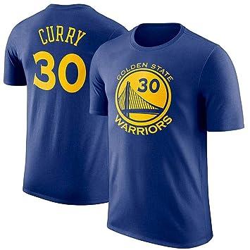 RUNWEI 2019 Nueva Camiseta Casual de Cuello Redondo de la NBA más Popular del Mundo (Color : Azul, Tamaño : Metro): Amazon.es: Hogar