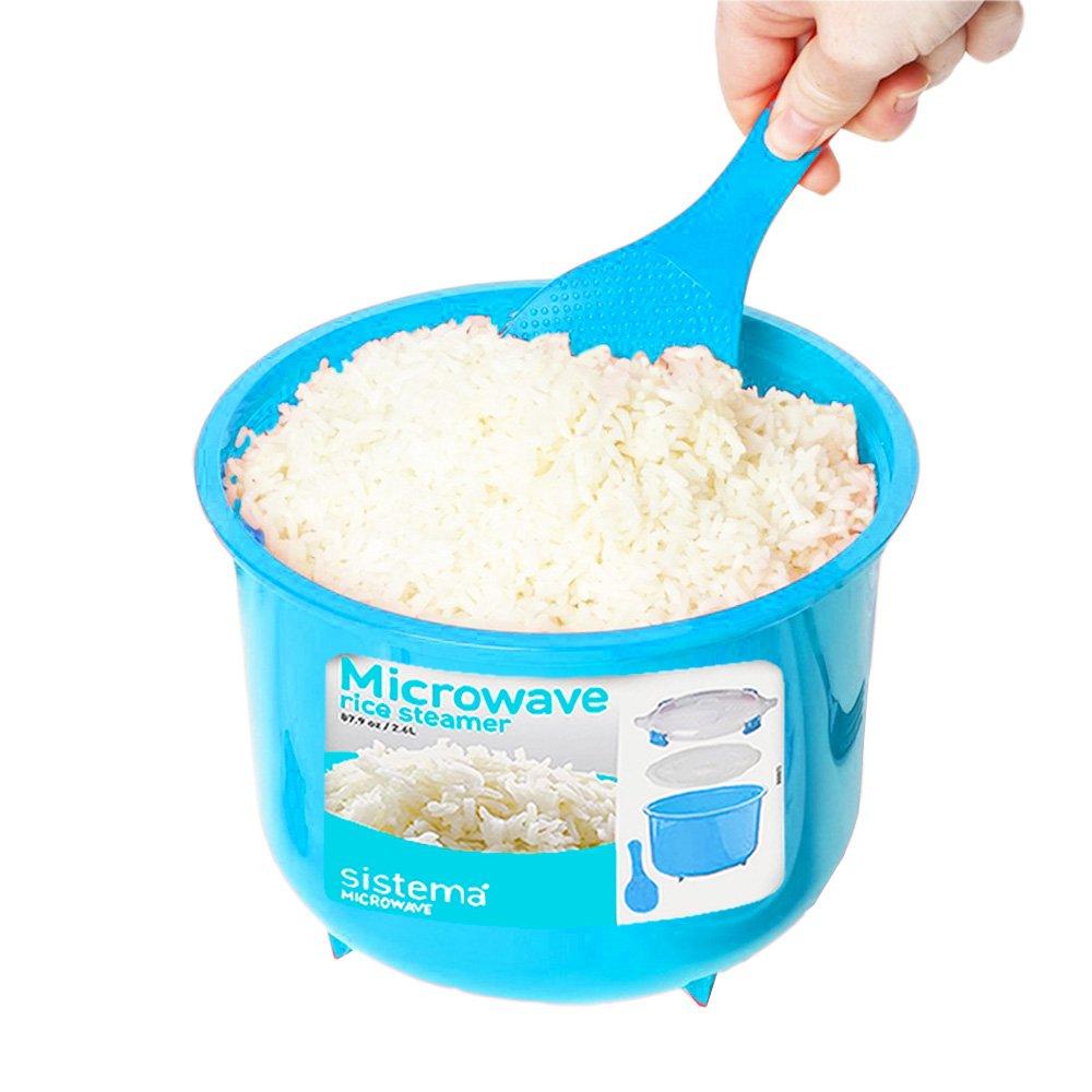 Amazon.com: Sistema Microwave Cookware Rice Steamer Set with Lids ...