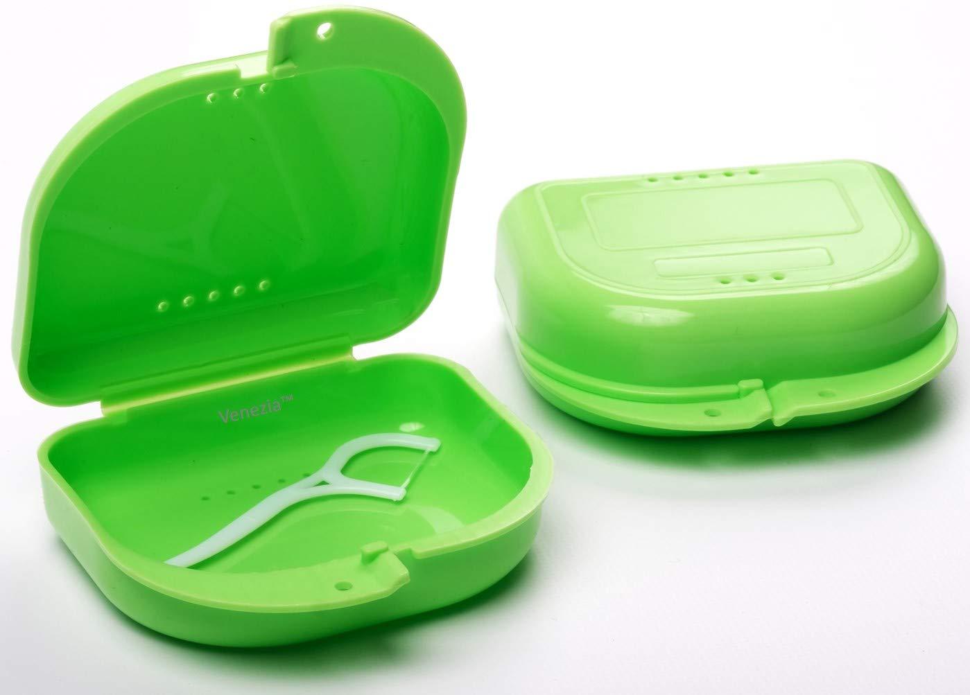 Teethology Caja para Guardabarros con ventilación - Caja para Guardabarros ortodonciales - Delgada Caja Dental ortodoncia - Caja para dentaduras: Amazon.es: Hogar