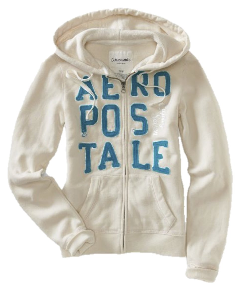 Aeropostale Women's Full-Zip Hoodie Stacked Logo X-Small Canvas by Aeropostale
