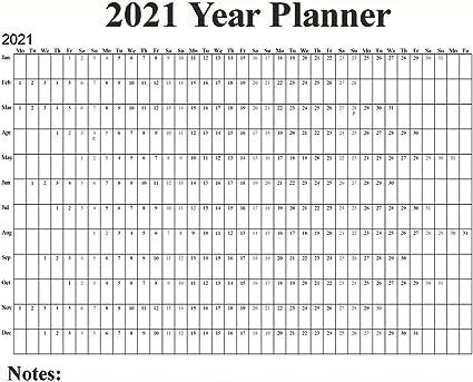 Calendario da parete 2021 maxi poster, schema delle vacanze del