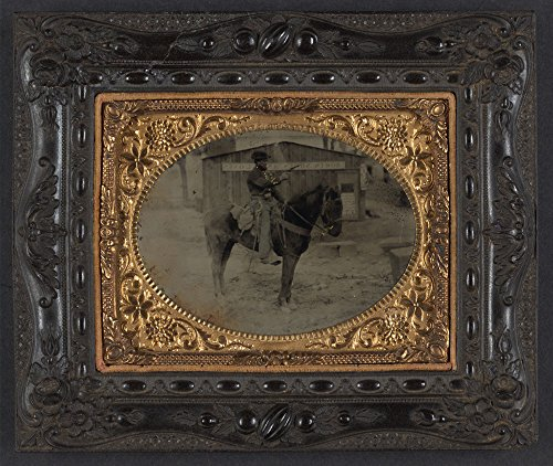 Unidentified cavalry soldier in Union uniform with for sale  Delivered anywhere in USA