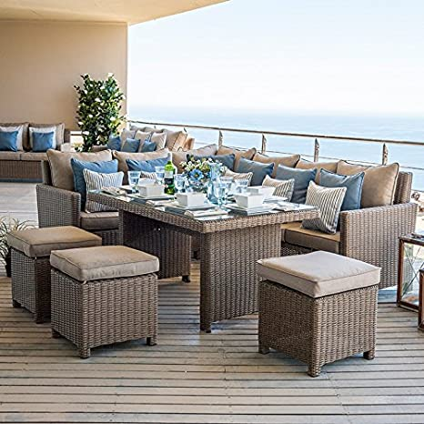 Fabulous Nova Heritage Ciara Outdoor Garden Rattan Corner Dining Ncnpc Chair Design For Home Ncnpcorg