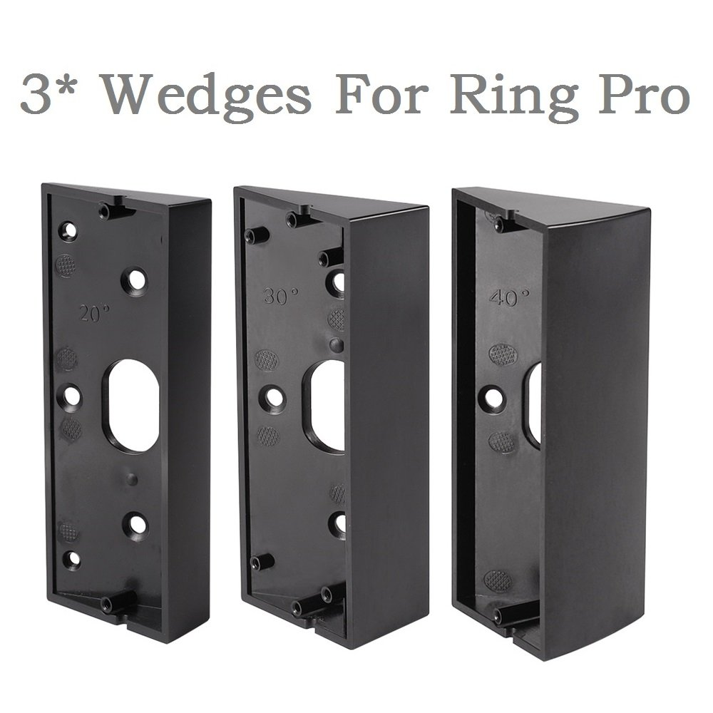 3x Adjustable(20 to 50 Degree) Ring Doorbell Pro Adapter Mounting Wedge Kit Ring Video Doorbell Pro Corner Kit Angle Adjustment Bracket