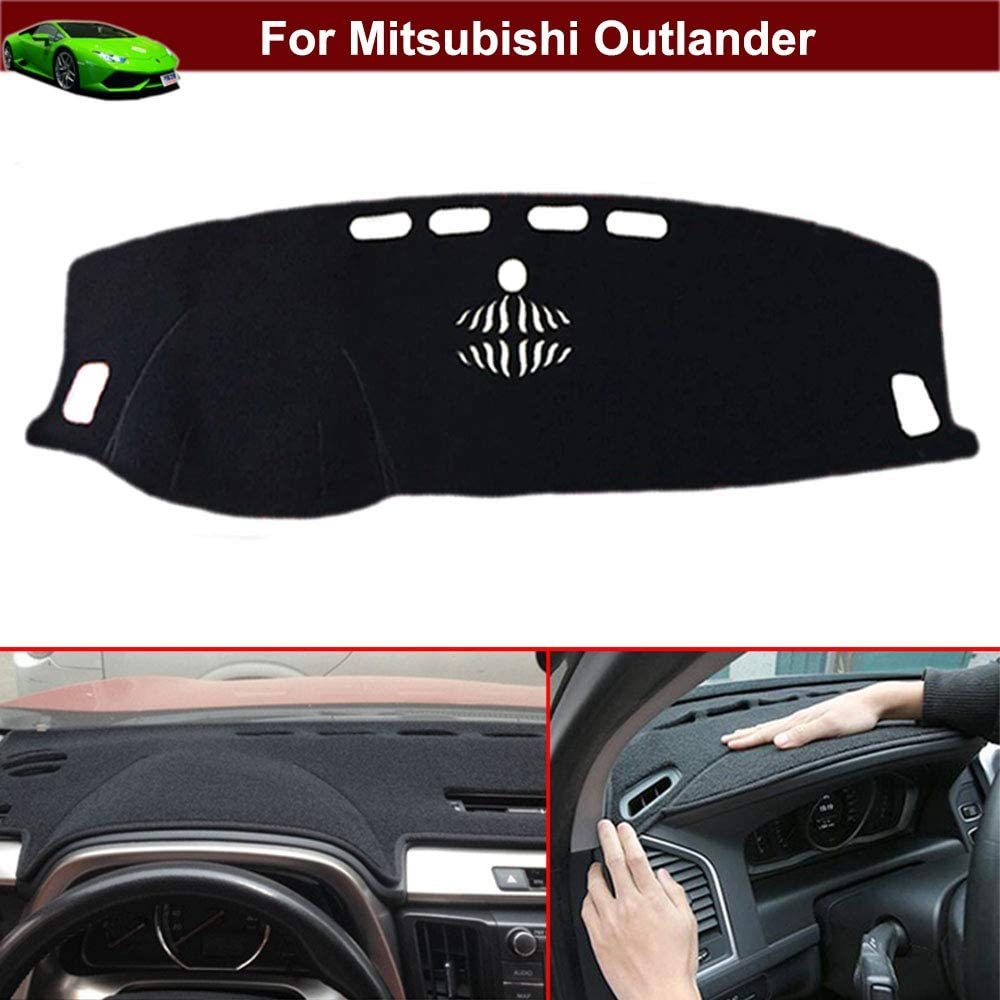 New 1pcs Black Non-Slip Dash Mat Dashboard Mat Dash Carpet Dash Covers Dashboard Cover Custom Fit for Mitsubishi Outlander 2013 2014 2015 2016 2017 2018 2019 2020