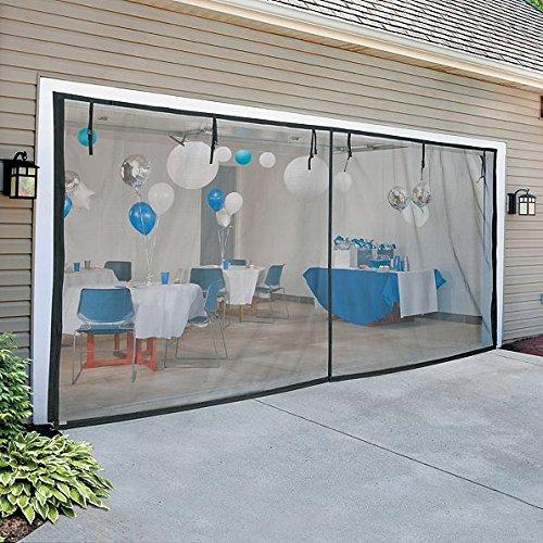 DermaPAD 14' W x 7 'H (Double Door) Zippered Garage Door Screen