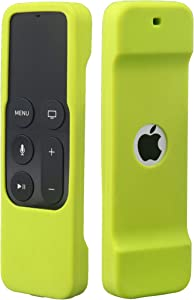Remote Case Compatible with Apple TV 4K (5th) and 4th Generation, Auswaur Shock Proof Silicone Remote Cover Case Compatible with Apple TV 4th Gen 4K 5th Siri Remote Controller - Green