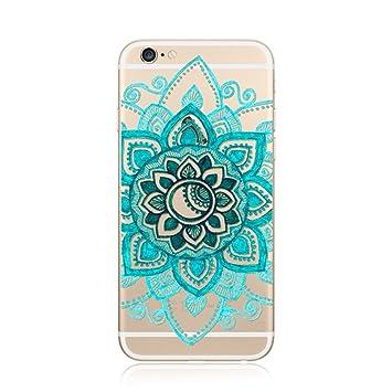0d704deae8f for iPhone SE / 5 / 5S Case Cover TPU, CrazyLemon Non-slip Premium Flexible  Soft TPU Gel Transparent Silicone Skin Clear Variety Colorful Mandala ...