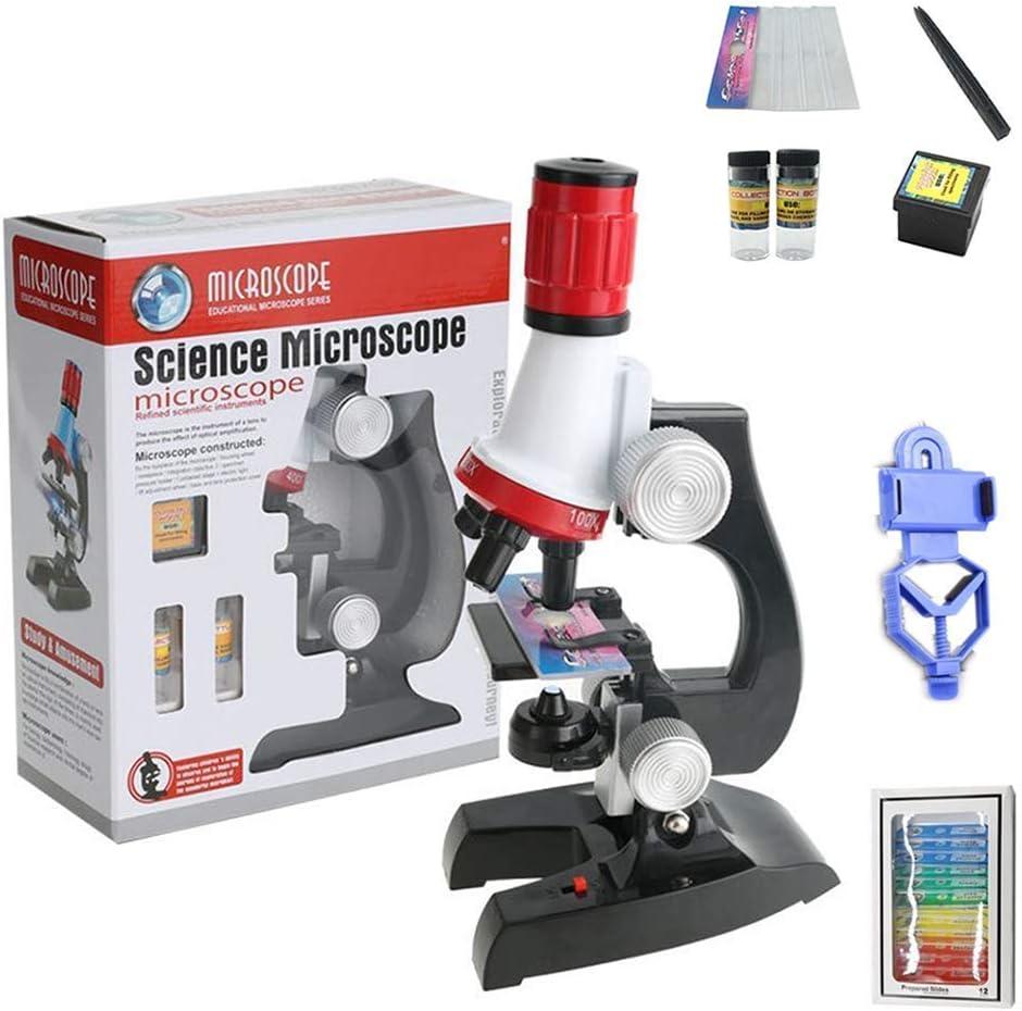 AYHa Microscopio monocular para niños, 1200X HD con soporte para teléfono, ángulo ajustable y juguete de enseñanza con luz LED: Amazon.es: Bricolaje y herramientas