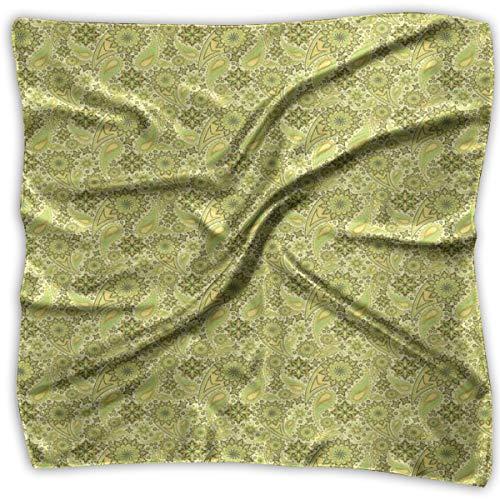 Bandana Head and Neck Tie Neckerchief,Traditional Paisley Oriental Leaves Bohemian Motif Arabian Inspirations,Headband