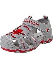 ♬ GongzhuMM Sandales Fille Garçon 26-37 Été Sneakers Fille Garçon Chaussures de Sport Unisexe Espadrilles Fille Garçon Chaussures De Course Doux pour 3-15 Ans