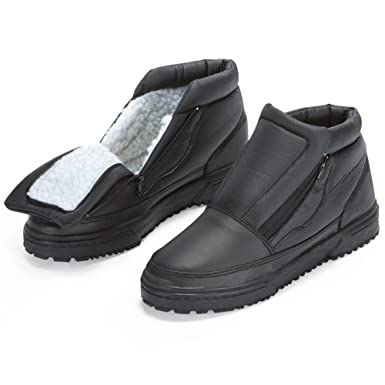 Amazon.com: Water Resistant Snow Boots With Ice Grippers: Clothing