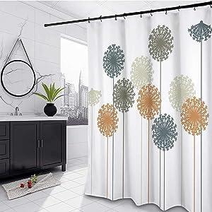 Dandelion Farmhouse Shower Curtain 72