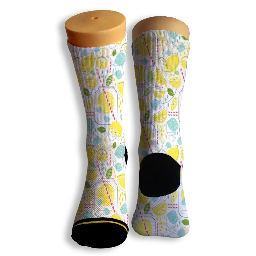 Basketball Soccer Baseball Socks by Potooy Lemon Soda 3D Print Cushion Athletic Crew Socks for Men Women