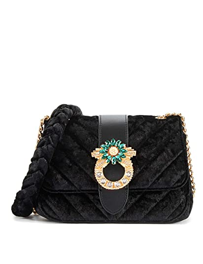 7cb6229818fc LA FESTIN Fashion Leather Velvet Purses for Women with Cross body Shoulder  Chain Strap Black  Handbags  Amazon.com