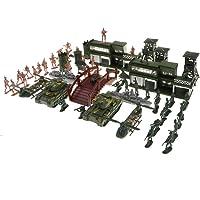 FLAMEER 130 delar byggstenar militär plast soldater armé leksak modell figurer dekor leksak set för barn