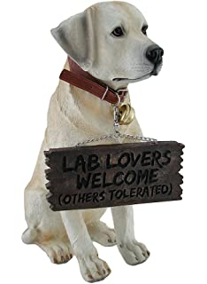 Adorable Labrador Retriever Garden Welcome Statue