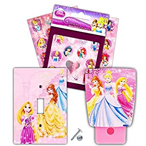 Amazon Com Disney Princess Night Light And Switch Plate