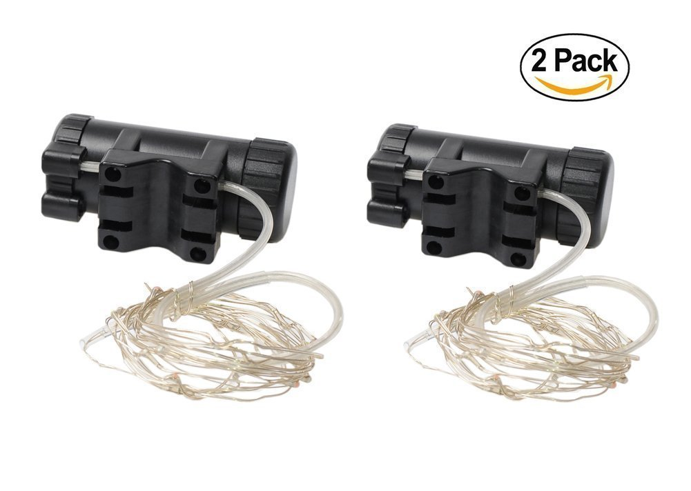 2 Pack Waterproof Bright Bicycle Tire Light Strip, Safety Spoke Lights, Cool Bike Accessories, Light Up Wheels, Safer Bicycle Spokes & Rims Light - Easy to install, No tools Needed,(2 Tiers Pack) by Cozy Homy (Image #3)