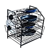 ZESPROKA Kitchen Shelf,Kitchen Pan Pot and Lid Rack,Black ()