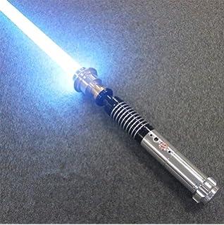 Regalo para ni/ños y Adultos,Blanco BoMan Lightsaber of Metal Hilt 11 Color RGB Laser Cosplay Toy Luz Luminosa Al Aire Libre Creative Wars Force Fx Lightsaber Light y Blaster Sound