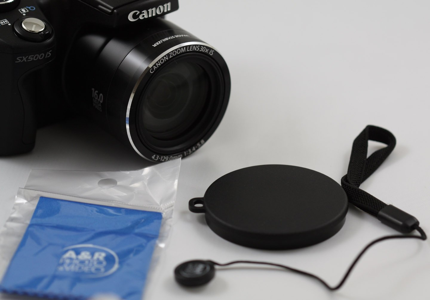 Front Lens Cap Cover for Canon SX520 SX530 SX500 SX510 HS Digital Camera + Cap Holder 54 by A&R