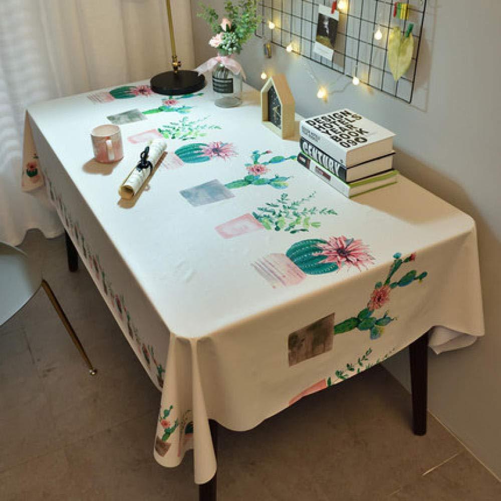 WJJYTX Plastic Tablecloth Wipe clea,Square Wipe Clean, Vinyl/Plastic Table Cloth Student Table cloth-90 * 150_B