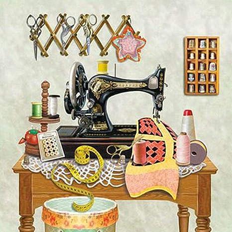 30 x 30 cm) DIY Diamond pintura máquina de coser de la madre Full ...