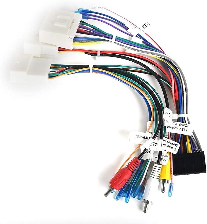 Dasaita Plug Play Kabel Autoradio Kabelbaum Stecker Mit Radio Antennen Adapter Für Subaru Forester Mit