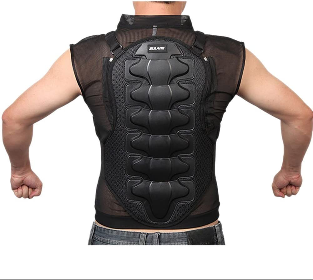M Protective Gear for Dirtbike Bike Motorcycle Motocross Skiing Snowboarding Jidesheying Adults Motorcycle Body Armour Chest Back Spine Protector Guard Vest