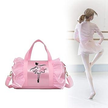 Multi-Color Selection Size: 482030cm Safety Dance Bag Fashion Large-Capacity Yoga Exercise Bag Hongyuantongxun Sports Bag Children Ballet Latin Dance Bag Color : Light Purple