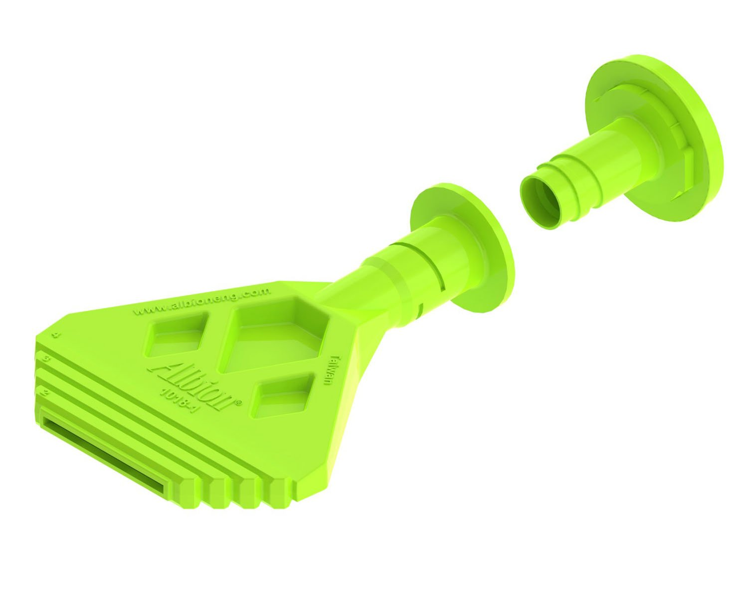 Albion Engineering 935-1(3 Pack) Angle Shot Green Plastic Nozzle for 1/10 Gallon Cartridges, Pack of 3