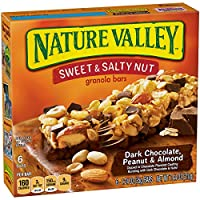 Nature Valley Granola Bars, Sweet and Salty Nut, Dark Chocolate Peanut & Almond, 6 Bars - 1.2 oz (Pack of 6)