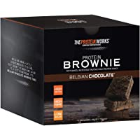 The Protein Works Protein Brownies, Belgian Chocolate Brownie, Box of 12