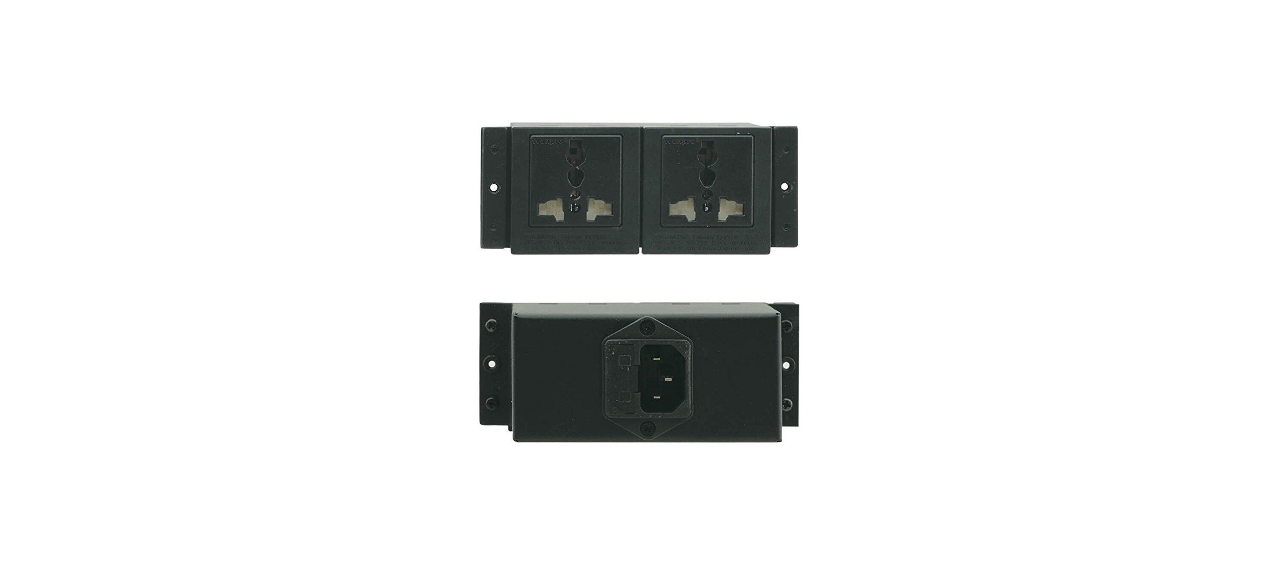 Kramer Electronics TBUS Dual Power Socket, USA TS-2US