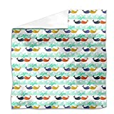 Whales In Love Flat Sheet: King Luxury Microfiber, Soft, Breathable