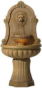 "John Timberland Savanna Lion 58"" High Indoor - LED Outdoor Floor Fountain"